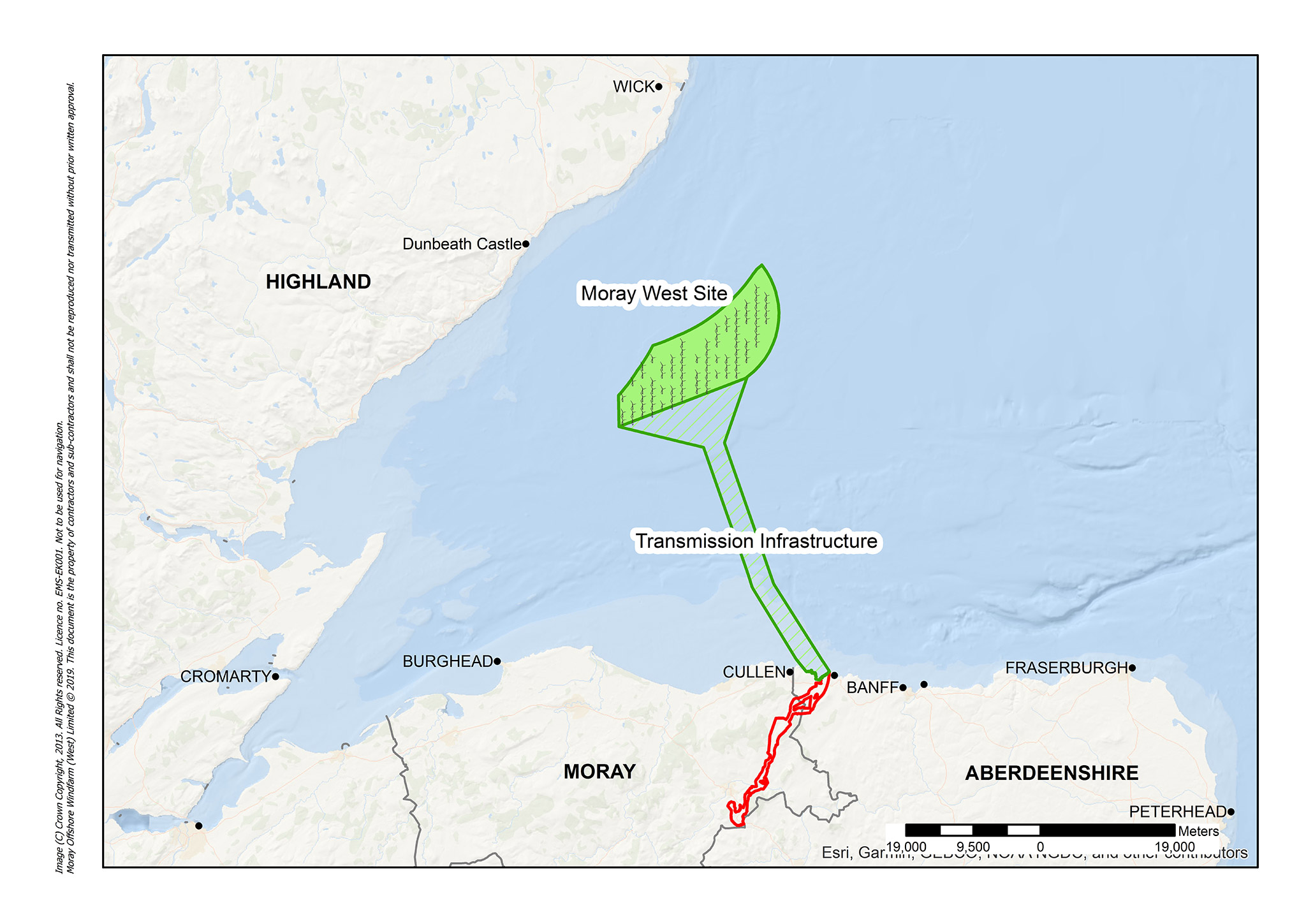 Moray West Site in the Moray Firth